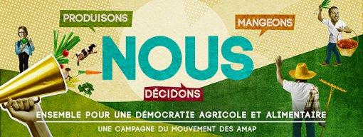 «Nous produisons, nous mangeons, nous décidons» – Campagne du Mouvement des AMAP