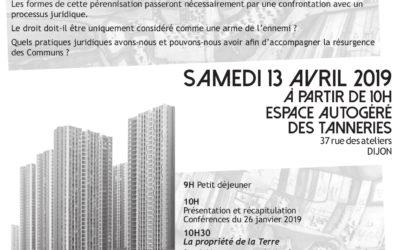 Résurgences Communes II – Territoires et usages face au droit – 13 avril