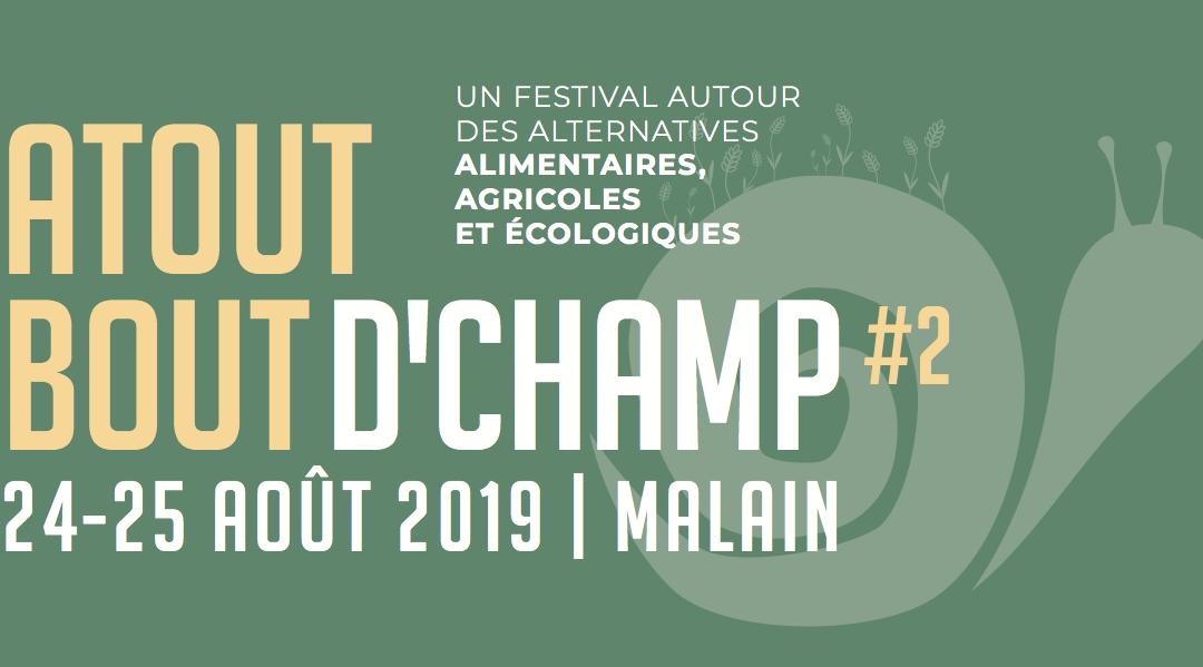 Festival Atout Bout d'Champ : soirée d'information bénévole le 11 juillet à 19h30