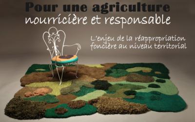 Conférence-débat «L'enjeu de la ré-appropriation foncière à l'échelle territoriale» : samedi 16 novembre à 20h30